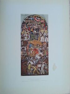 MEXICAN MASTER DIEGO RIVERA HAND SIGNED  LITHOGRAPH