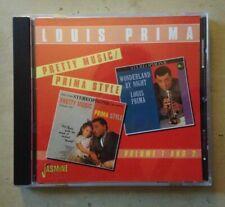 Louis Prima Pretty Music Prima Style Vol. 1 & 2 CD 1998 Jasmine IMPORT Scorsese