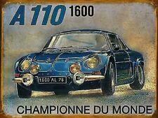 PLACE DE MON ALPINE A110 29cm AUTOCOLLANT STICKER STYLE PLAQUE DE RUE PR0191