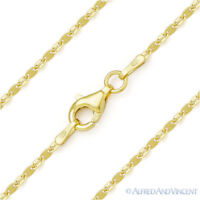 Mariner Marina 1.4mm Link Chain Necklace Italy Sterling Silver & 14k Yellow Gold