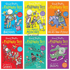 Enid Blyton The Magic Faraway Tree Adventure Collection 6 Books Set Birthdays