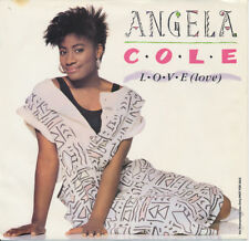 ANGELA COLE L-O-V-E (Love) / DJ Promo 45 rpm NM + Picture Sleeve / Motown