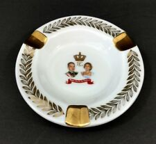 Vintage Limoges France Ashtray Collectible Tobacciana Royal Crown Design