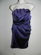 Davids Bridal Dress Plus Size 24 Lapis Purple 84835 Crumb Catcher Strapless NWT