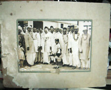 INDIA RARE VINTAGE - GROUP PHOTOGRAPH IN TRADITIONAL DRESSES