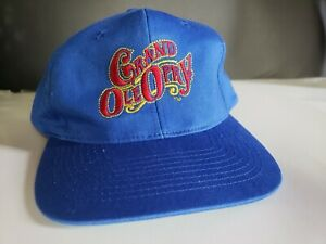 Vintage Grand Ole Opry Hat Blue Cap Embroidery Snapback Mens One Size Fits All