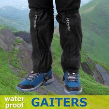 Outdoor Wandern Schnee Bein Gamaschen  Leggings Cover Schutz Wasserdicht Schwarz