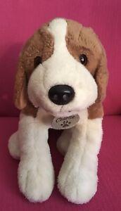 "Keel Toys Charlie Tri-Colour Brown Cream Black Beagle Dog Soft Plush Toy Big 18"""
