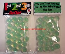 2 BAGS OF TEXACO SKY CHIEF GASOLINE ADVERTISING PROMO MARBLES