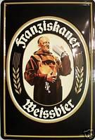 Franziskaner Mönch Blechschild Schild 3D geprägt gewölbt Tin Sign 20 x 30 cm