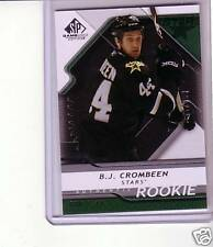 B.J. CROMBEEN AUTHENTIC ROOKIE SP GAME USED 08/09 RC