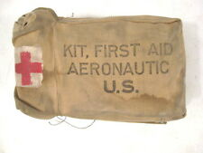 Vietnam Aeronautic First Aid Kit in Canvas Carry Pouch Complete w/Supplies 1956