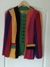 Women's Moschino Couture Vintage 80s/90s Multi Coloured  Jacket Size 8