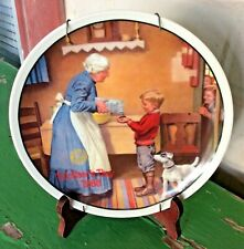 """Norman Rockwell """"The Pantry Raid"""" Collector Plate Numbered Display Mount Knowles"""