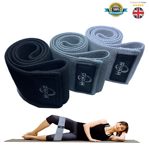 Set of 3 Fabric Resistance Bands Heavy Duty Hip Circle Glute Leg Booty Non Slip