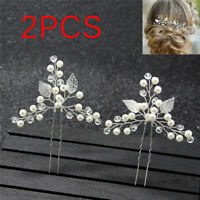 2pcs Women Hair Pins Bridal Hairpins Wedding Hair Ornaments Hair Accessories JR