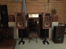 """Speaker StandsStudio Monitors New In Box 28"""" Steel Black Vintage Audio Stereo"""