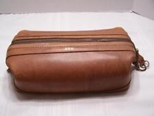 Vintage Bosca American Belting Men's Shaving Travel Toiletry Bag Brown Leather
