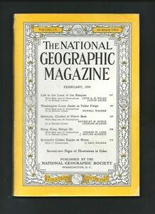The National Geographic Magazine February 1954 Vol. CV  Number 2  ( Softcover )