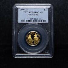 2007-W $5 Jamestown Commemorative Gold Coin PCGS PR69 DCAM (slx3785)