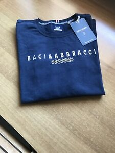 Maglietta Uomo Manica Lunga  Taglia M Blu Baci&Abbracci