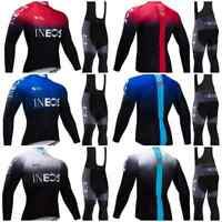 2019 INEOS Men's Long Sleeve Cycling Jersey with Bib Suit Road Cycling Set