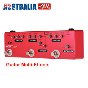 6-in-1 Guitar Multi-Effects Pedal Delay + Chorus + Distortion + Overdrive 2020