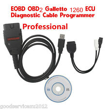 Portable Car EOBD OBD2 OBDII 1260 ECU Diagnostic Cable Programmer Multi-Language