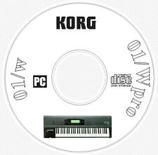 Korg 01/W - 01/Wpro Sound Library Patches MIDI Software Manual & Editors CD  01W