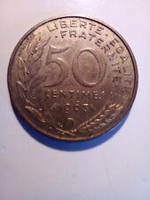 Pièces 50 centimes 1963 col 3 plis