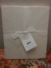 Pottery Barn Essential Queen Fitted  Sheet Ivory 300 Thread Count NWT