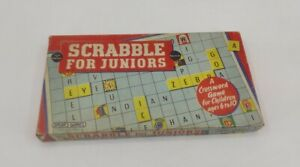 SCRABBLE for JUNIORS Spear's Games 1958 Vintage 100% Complete Made in England