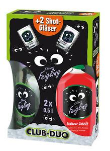 Behn Kleiner Feigling CLUB-DUO 2 x 0,5 l Flaschen +2 Shot Gläser  Erdbeer Colada
