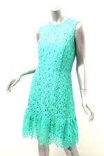SHOSHANNA Aquamarine Lace Scalloped Hem Dress 10 $385