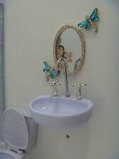 A Re-ment Miniature High Class Princess Bathroom Mirror diorama 1/6 doll scale