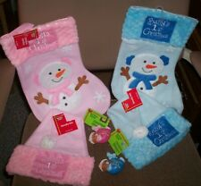 BOY OR GIRL BABY'S 1ST CHRISTMAS  HOLIDAY STYLE 3 PIECE STOCKING HAT ORNAMENT