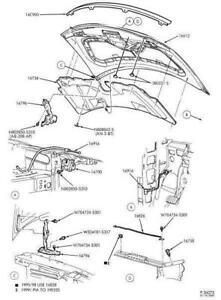 1999 - 2003 Ford Windstar Hood Latch Release Mechanism OEM