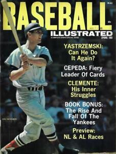 1968 Baseball Illustrated Magazine, Carl Yastrzemski, Clemente - Mint