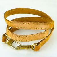 LOUIS VUITTON Leather Shoulder Strap For Pouch Bag Light Brown 106cm 41inches