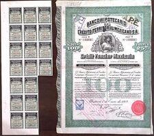 Mexico Mexican 1909 Banco Hipotecario Queen Victoria 100 Pesos UNC Bond Share