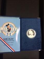1988 Mickey 1oz Silver Proof Coin, #5 A Mouse Of All Trades, with Box and COA