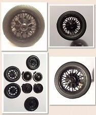 New Version! 1930 1/24 Scale Ford Model A Jalopy Dragster Wheels-Set of 4!