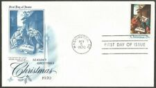 US FDC.US 1970 CHRISTMAS 6C STAMP SCOTT #1414 THE NATIVITY-BY LOTTO.US COVER