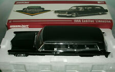 1/18 Scale 1966 Cadillac S&S Hearse Limo Diecast Model Greenlight PC-18002 Black