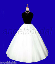 EXTRA FULL A-LINE HOOPLESS BRIDAL WEDDING GOWN PETTICOAT CRINOLINE SKIRT SLIP