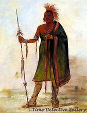 "Wash-im-pe-shee ""Madman"" Osage Warrior -1834 - Native American Art Print"