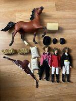 Breyer Accessories Lot!!  Brenda X3, Saddle, Tack Box, Hay, Grains, 1 Horse