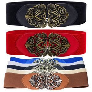 Waist Belts Women Wide Elastic Dress Accessories Stretch Corset Metal Buckle New