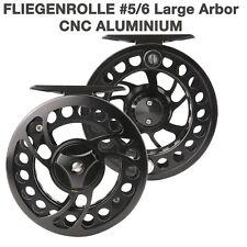 Fliegenrolle ML#5/6 Fly Reel Fliegenfischen Angelrolle Aluminium CNC Large Arbor