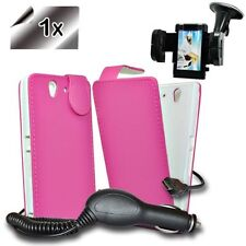 Accessory Master Mobile Phone Case Leather Pink Screen Protector Car Charger